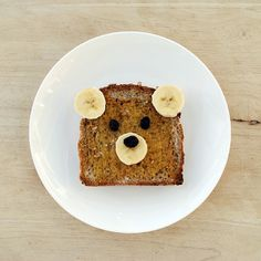 Teddy bear toast | Mini-eco #bear #teddy #banana #toast