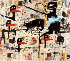 Urban Pop Life #birds #basquiat #painting #art #jeanmichel