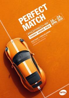 Porche Tennis Grand Prix Flyer Design