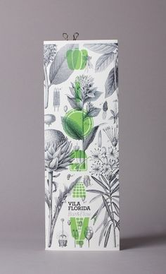 Vila Florida Restaurant Barcelona graphic design by Lo Siento Studio, Barcelona #print #graphic #green #pattern #floral #lo siento