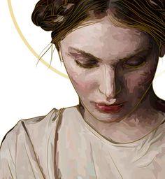 Virgin Mary #illustration #digital art #face #mary #ukraine #poland