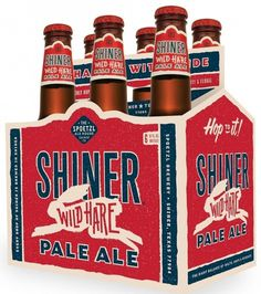 Shiner Wild Hare Pale Ale #brewery #beer #design #graphic #label