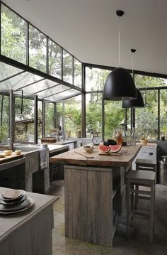 "Image Spark Image tagged ""window"", ""office"" corneliawolf #interiors #kitchens #glazing"