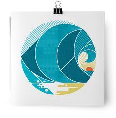 wave screen print by MATT LEHMAN