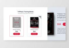 Ecommerce Cards #ecommerce #website #webdesign #product #book