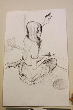 Studio Visit with Nimit Malavia | Hi Fructose Magazine #sketch #girl