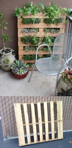 Vía http://modernurbanliving.com #DIY #garden #pallet