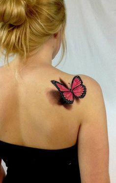 45+ INCREDIBLE 3D BUTTERFLY TATTOOS