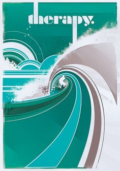 1001 words - Posters. on the Behance Network #surf #typorgraphy #therapy #poster