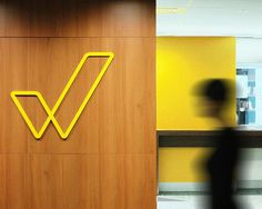 Workplace Gender Equality Agency brand identity designed by Ascender #signage #yellow #lines #ascender