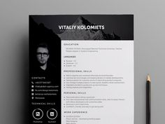 Free Professional Resume Template with Clean and Modern Look