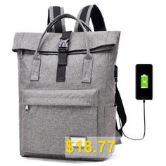Fashion #Popular #Multi-function #Computer #Bag #- #DARK #GRAY