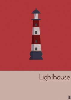 Lighthouse - Design by graphonaute #design #graphic #lighthouse #minimalism #illustration #building