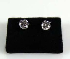 Pair Of Brilliant Solitaire Earrings