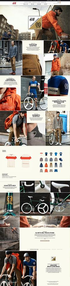 H&M #design #hm #grid #digital #bike #web