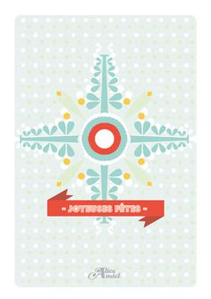 Christmas card made by Alice Amiel - 2012 #carte #flocon #card #christmas #snowflake #noel