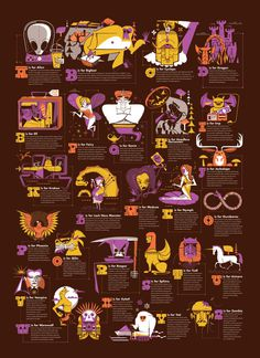 Mythical Creatures #illustration #creatures #mythical #poster