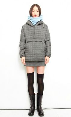 http://www.blondegotblues.com/ #outerwear #quilting #heather #grey