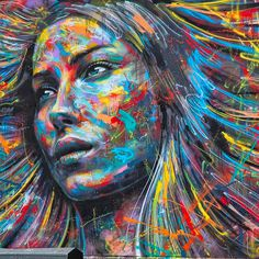 The Explosively Colorful Spray Paint Portraits by David Walker