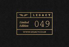 LEGACY Cap Co. // Branding on Behance #logomark #logo #identity #branding #brand #retro #trend #gold #apparel #texture #style