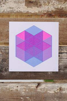 Image of X House (Art Print) #risograph #print