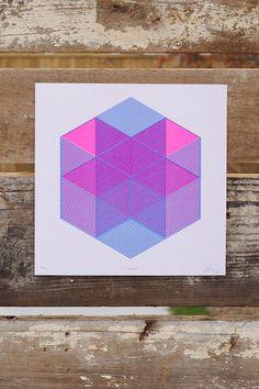 Image of X House (Art Print) #risograph #print