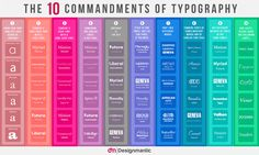 The 10 Commandments of Typography #spine #pink #color #books #spines #grey #purple #type #blue #typography