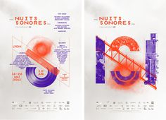 Nuit Sonores #festival #poster #music #paper #typography