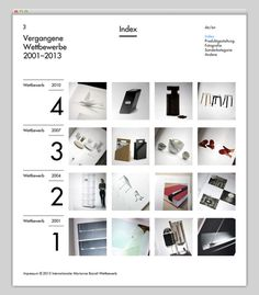 Marianne Brandt Wettbewer (strong typography & solid visual and structural balance) #website #layout #design #web