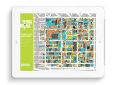 Map design - San Francisco #design #map #illustration #wayfinding Map #graphic #signage #title #tablet #splash #homepage #orientation