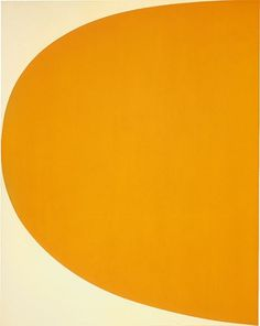 International Paintings and Sculpture | Orange curve #painting #ellsworth #art #kelly