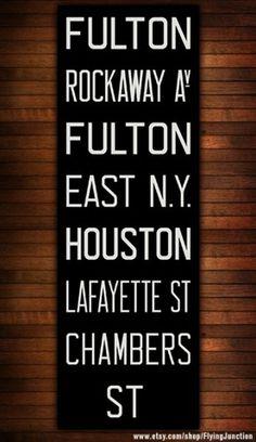 BROOKLYN & MANHATTAN New York City Vintage Look by FlyingJunction #typography #signage