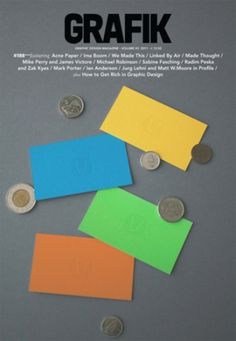 Vaste HQ #business #grafik #design #graphic #yellow #orange #blue #cards #magazine #green