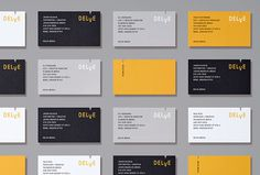 Delve by Moniker #branding #business card