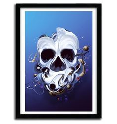 ORGANIC SKULL by DAVID DELIN #print #art