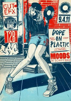 Dope On Plastic by Suffix #illustration #poster #suffix