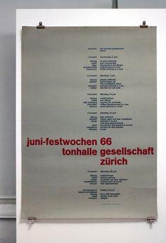 Juni-festwochen 1966 - Tonhalle Gesellschaft Zürich | Flickr - Photo Sharing!