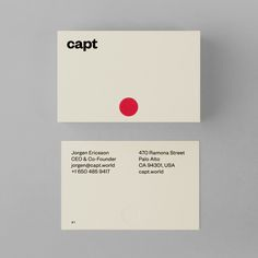 Capt by Bunch, United Kingdom. #branding #businesscards