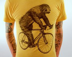 Sloth Bike #fashion #illustration #design #tshirt