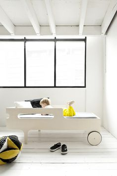 R toddler bed by Rafa Kids - modern, playful and functional toddler bed - www.homeworlddesign (13) #kids #bed #toddler