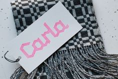 Carla - Projects - A Friend Of Mine #angle #geometric #hang #woven #tag #textile #logo #stitched