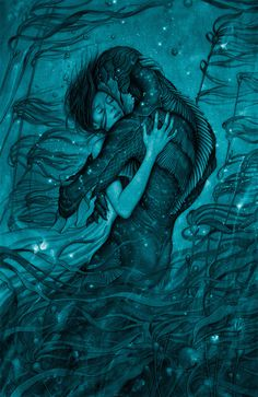 """James Jean's finished poster for """"The Shape of Water"""""""
