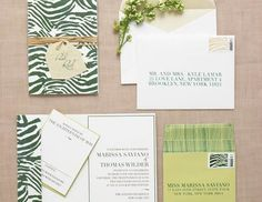 Green Wedding Stationery #green #skin #animal #invitation