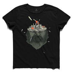 #bluden #black #tee #tshirt #head #beard #mess