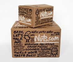 Nuts.fun - Brand New #nuts #cardboard #packaging #handwriting #box