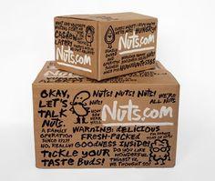 Nuts.fun - Brand New #packaging #cardboard #handwriting #box #nuts