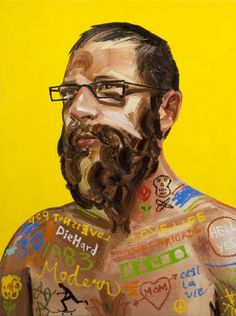 The Skateboarder - Erik Olson #tatoo #man #beard #painting