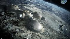 Foster + Partners to 3D print buildings on the moon #print #architecture #3d