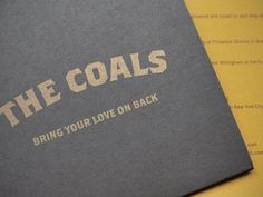 Dribbble - Coals II by Jonny Mack #album #print #cover #gold #typography