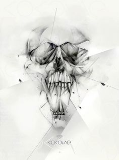 Cocaine on the Behance Network #illustration #skull